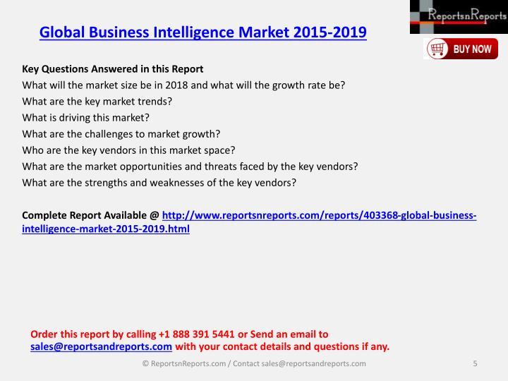 Global Business Intelligence Market 2015-2019