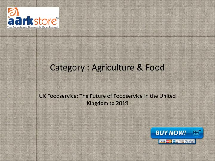category agriculture food n.