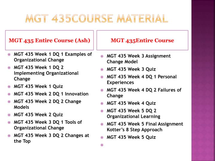 Mgt 435course material