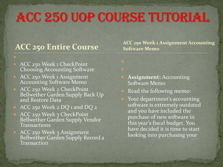 ACC 250 UOP
