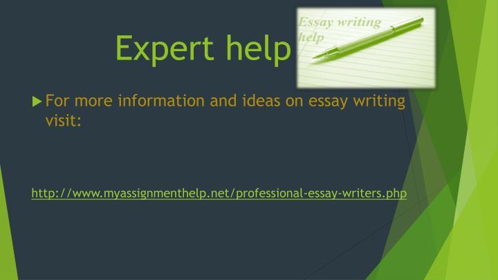 Expert help
