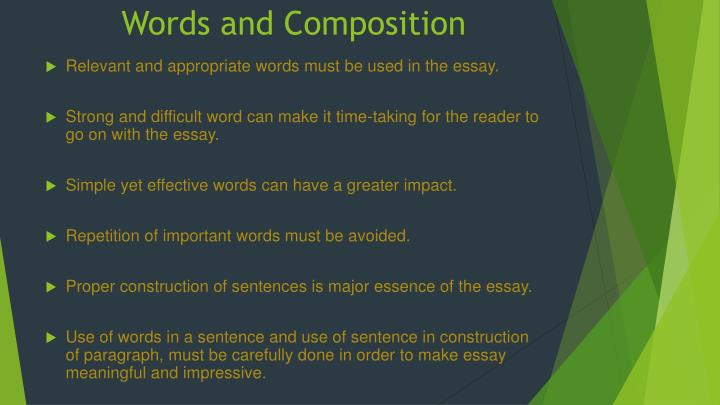 Words and Composition