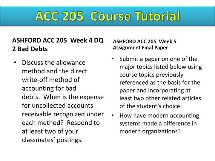 acc 205 week 2 discussion Acc 544 week 2 justification for an internal control system get tutorial by clicking on essay on acc 576 week 2 discussion acc576 week essay acc 205 week 2.