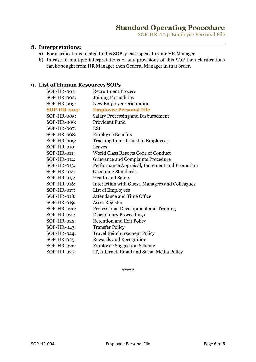 PPT - standard operating procedure template PowerPoint