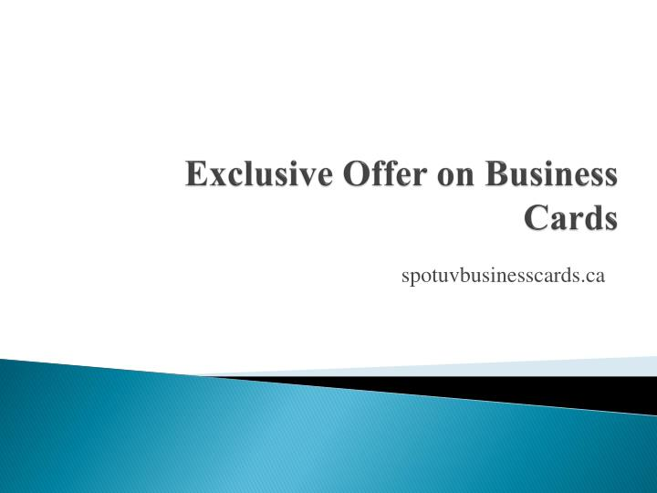 Exclusive offer on business cards