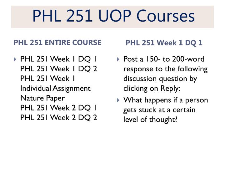 Phl 251 uop courses1