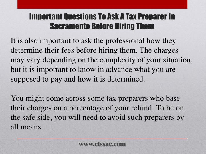 It is also important to ask the professional how they determine their fees before hiring them. The charges may vary depending on the complexity of your situation, but it is important to know in advance what you are supposed to pay and how it is determined.