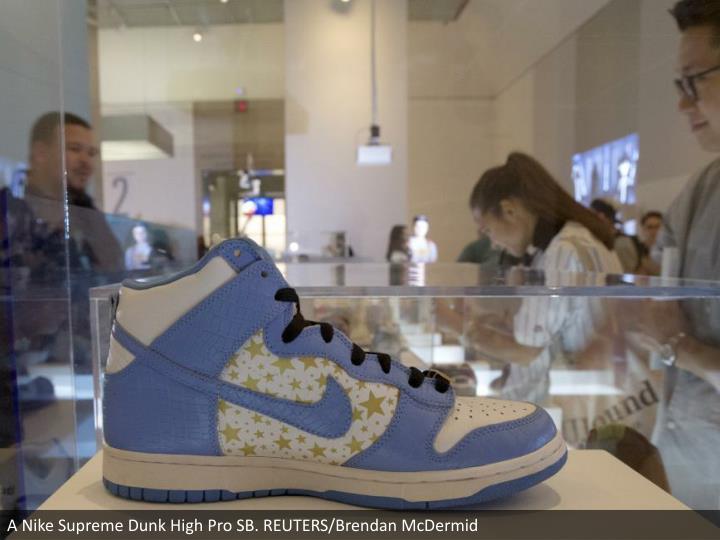 A Nike Supreme Dunk High Pro SB. REUTERS/Brendan McDermid