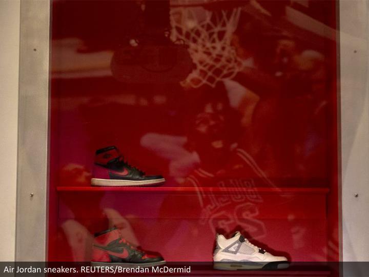 Air Jordan sneakers. REUTERS/Brendan McDermid