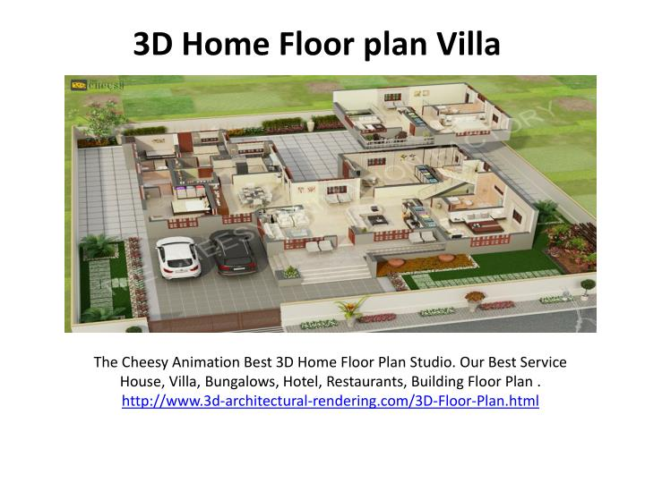 3d home floor plan villa n.