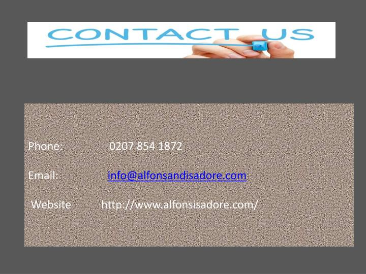 Phone:                 0207 854 1872