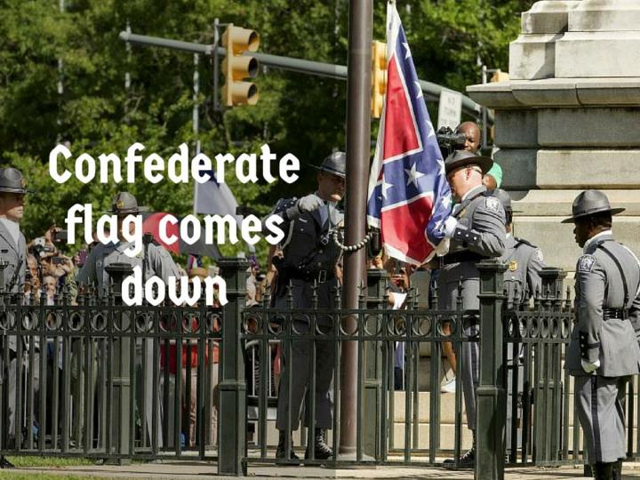 confederate flag comes down n.