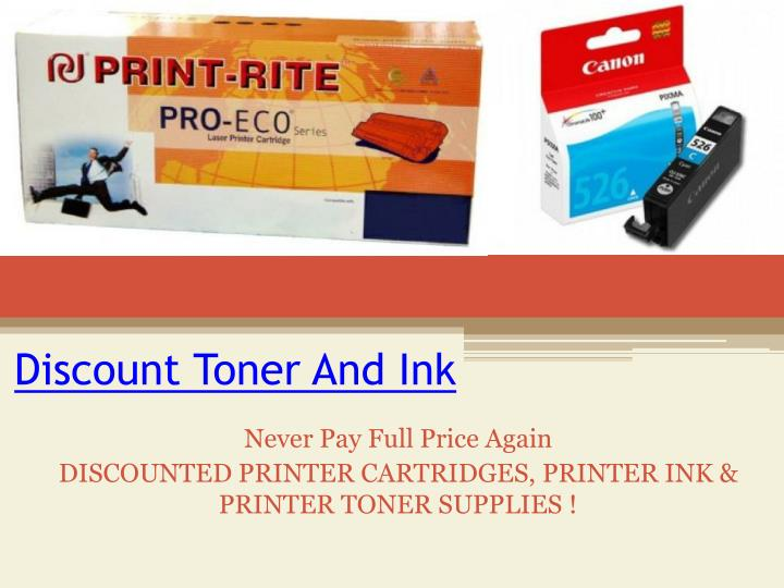 discount toner and ink n.