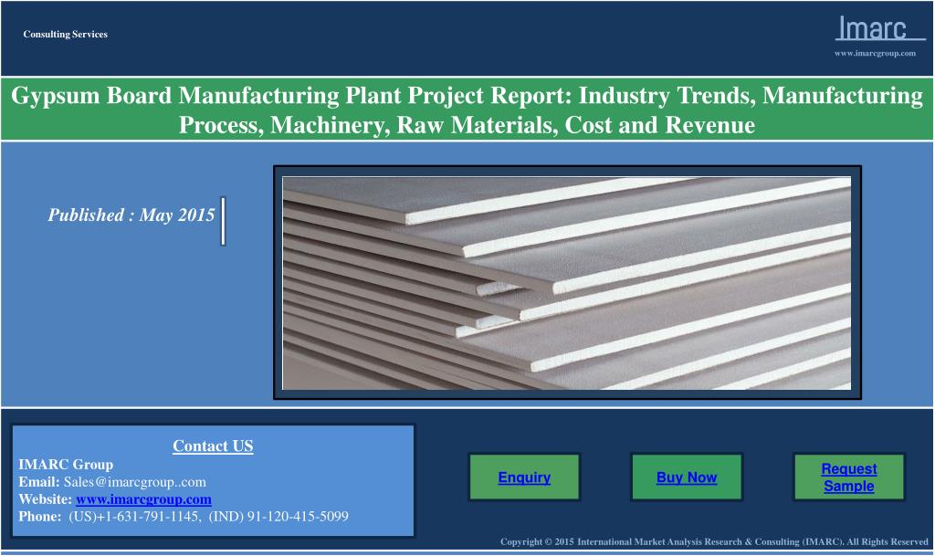 PPT - Gypsum Board Market | Prices and Manufacturing Plant