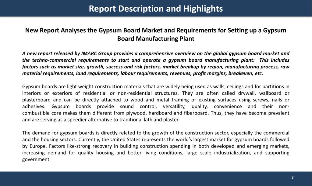 PPT - Gypsum Board Market   Prices and Manufacturing Plant Report