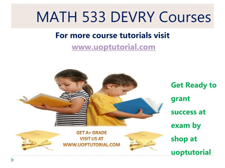 MATH 533 Applied Managerial Statistics