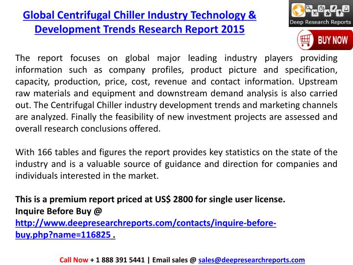 Global Centrifugal Chiller Industry Technology & Development Trends Research Report 2015