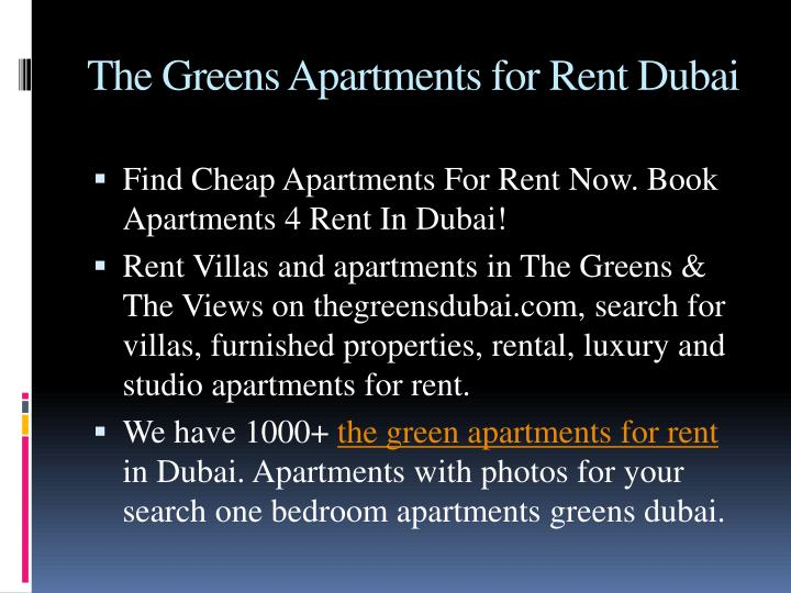 Furnished Villas For Rent In Dubai