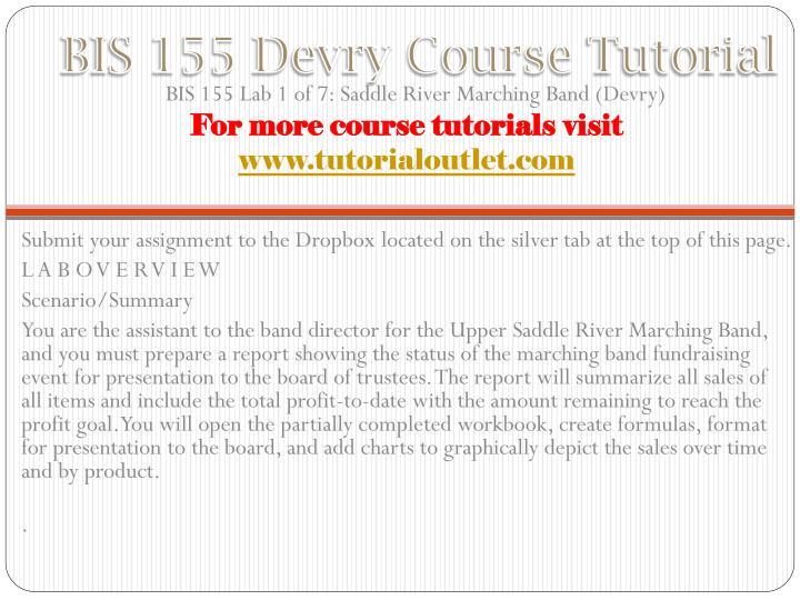 Bis 155 devry course tutorial1