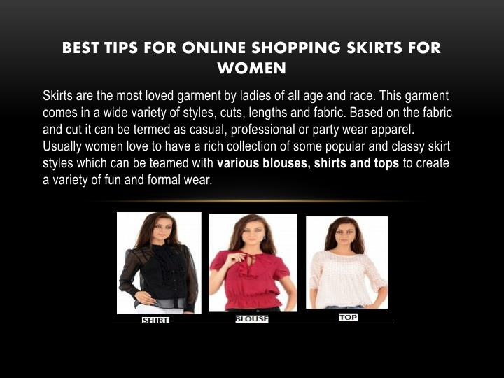 Ppt best skirt online for women usa powerpoint for Best online shopping sites in usa
