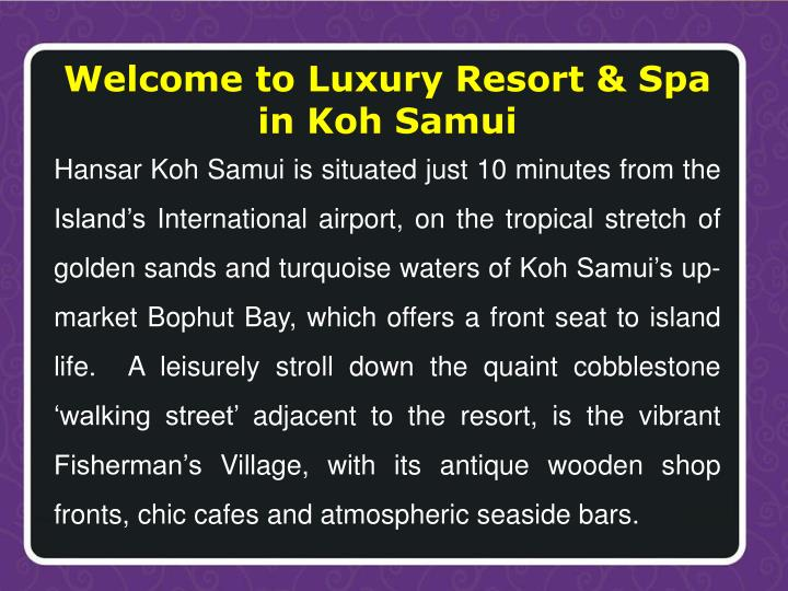 Welcome to Luxury Resort & Spa in