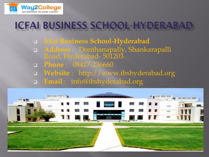 Icfai Business School-Hyderabad