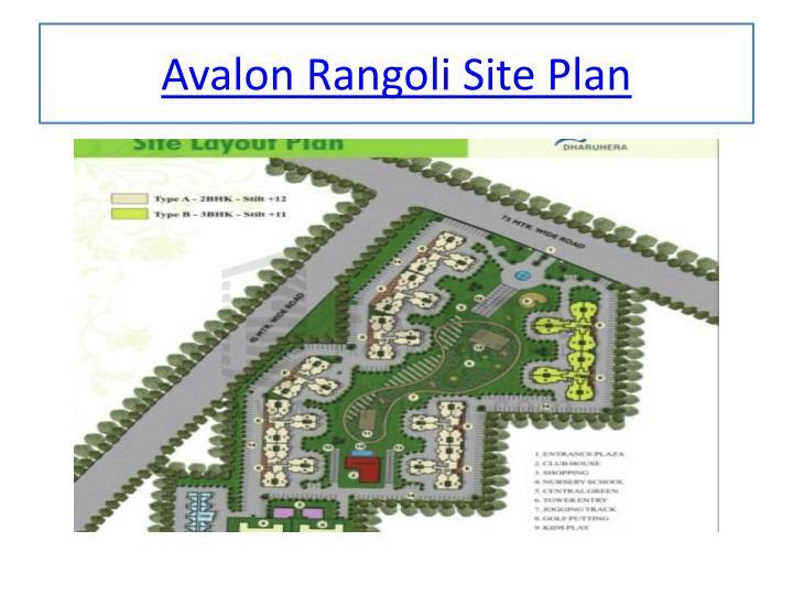 Avalon rangoli site plan
