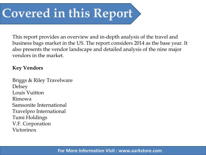 Covered in this Report