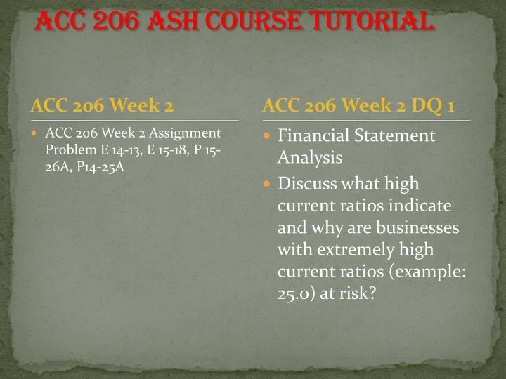 Acc 206 ash course tutorial