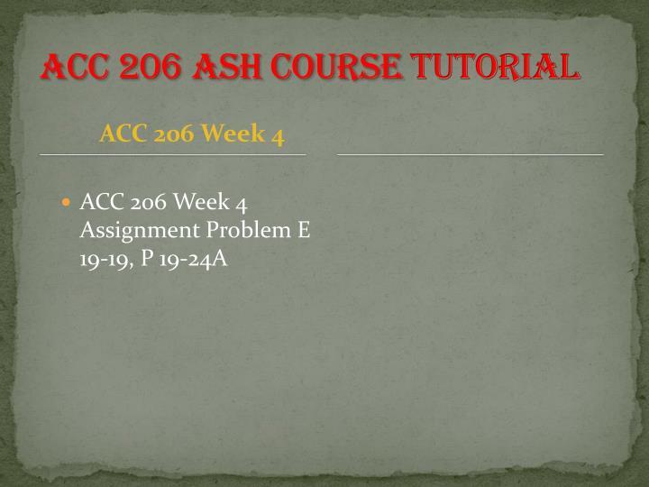 ACC 206 ASH Course