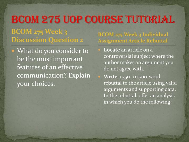 write a 350 to 700 word rebuttal to the article using valid arguments and supporting data in the reb Com 275 article rebuttal paper (uop) for more course tutorials visit wwwtutorialrankcom write a 350- to 700-word rebuttal to the article using valid arguments and supporting data.