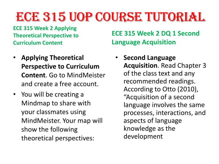 "ece 315 language resource file Ece315 ece/315 ece 315 week 3 dq 2/discussion 2 speech & language impairments -[latest] speech & language impairments as chapter 6 states, ""students with sli should receive speech and language services."