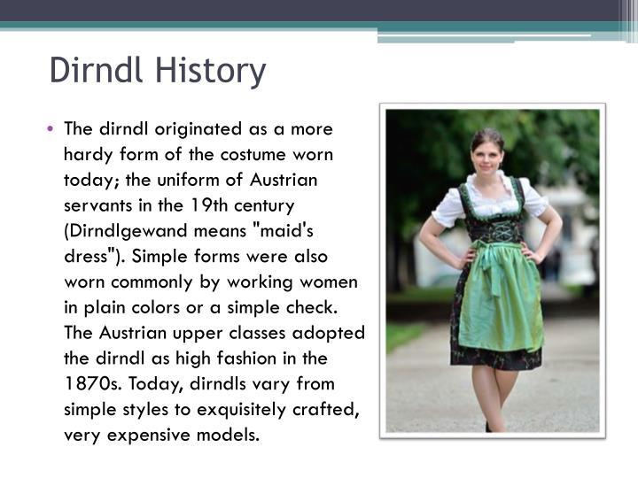 Dirndl history