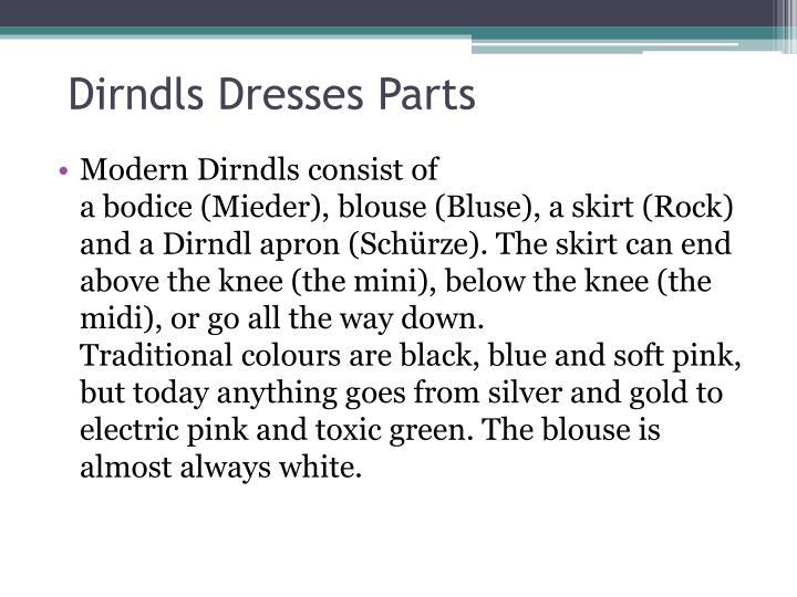 Dirndls dresses parts