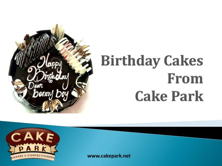birthday cakes from cake park n.
