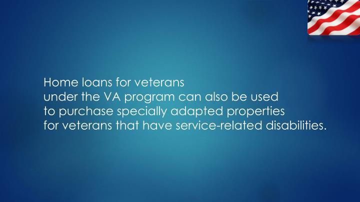 Home loans for veterans
