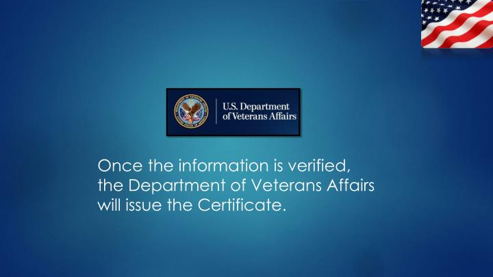 Once the information is verified,