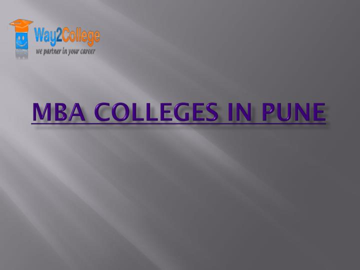 mba colleges in pune n.