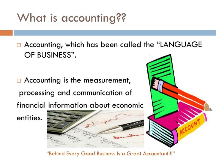 What is accounting??