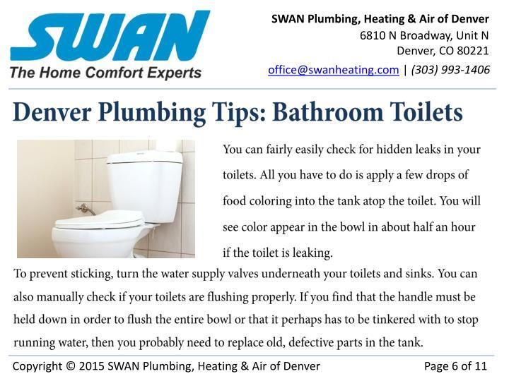 SWAN Plumbing, Heating & Air of Denver