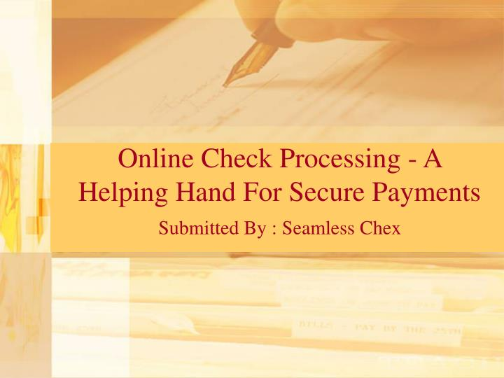 online check processing a helping hand for secure payments n.