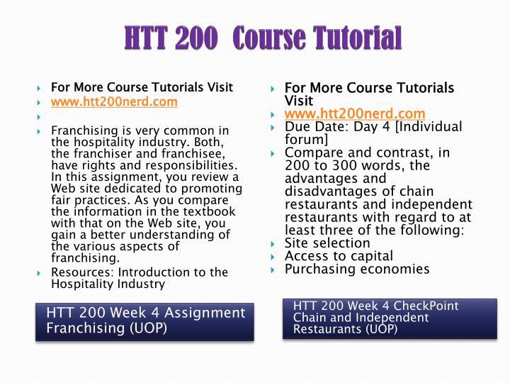 htt 200 week 4 franchising