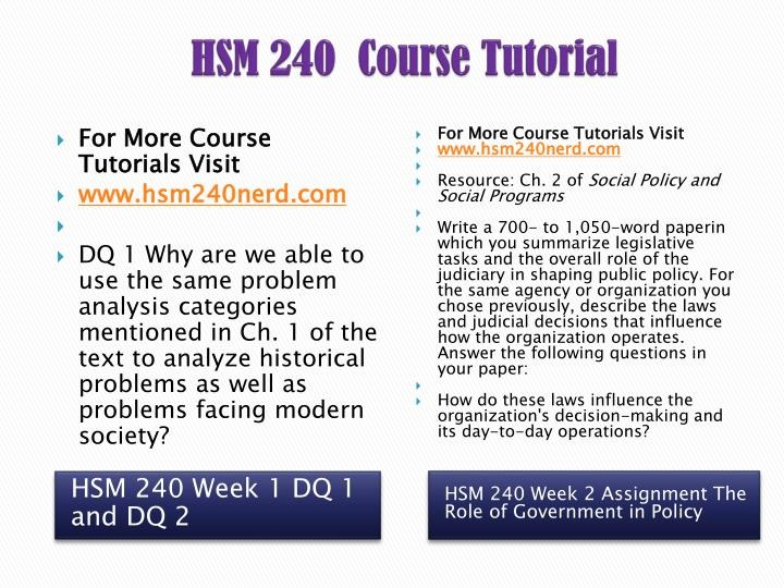 hsm 240 policy elements Check out our top free essays on hsm 240 the role of government in policy making to help in policy-making hsm 240 week 3 checkpoint policy elements hsm 240.