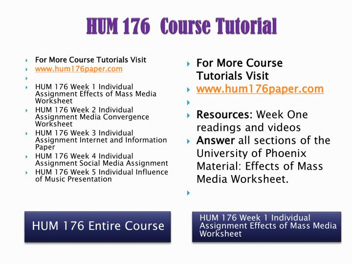 hum 176 week 1 mass media Hum 176 entire course link 176 week 1 effects of mass media worksheetreview the week 1 readings and videos complet.