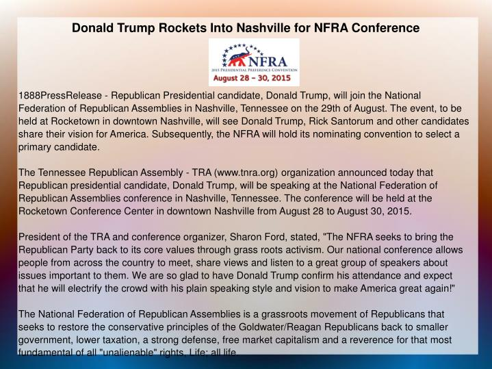 donald trump rockets into nashville for President trump is calling the latest republican tax plan 'rocket fuel for  a result  of these massive tax cuts, trump said monday in nashville.