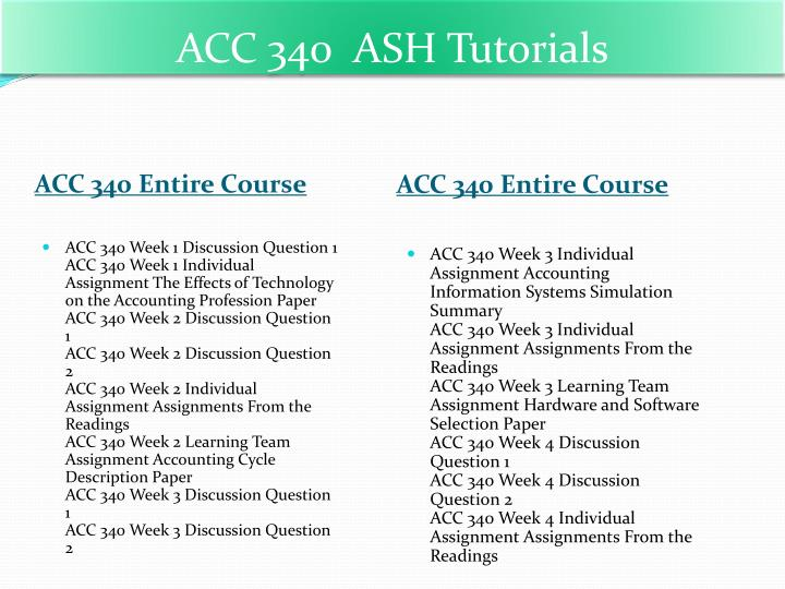 acc 340 week 2 assignmen from