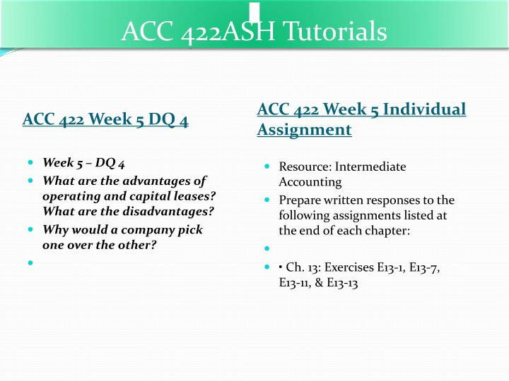 acc 422 week 5 individual