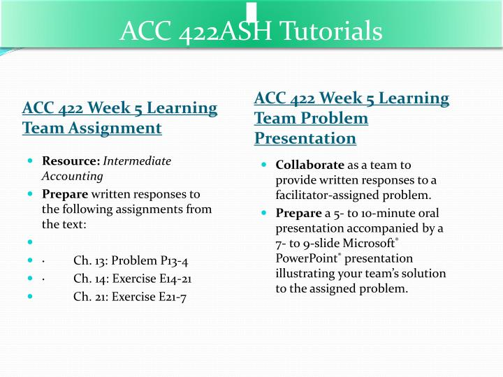 acc 422 week 2 learning team Learning team assignment acc 422 week 2 learning team assignment acc 422 week 2 do you need help with this assignment whether you.