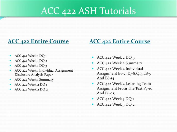 weekly reflection acc 422 Find exactly what you want to learn from solved papers for acc 422 - week 2 - weekly reflection, developed by industry experts.
