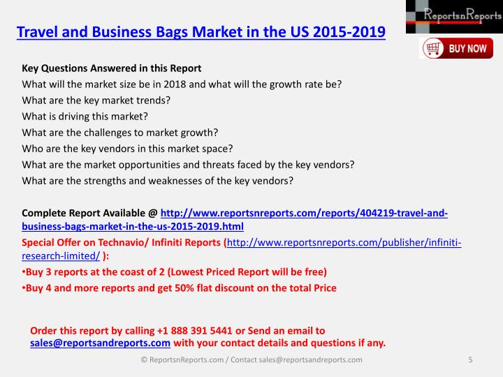 Travel and Business Bags Market in the US 2015-2019